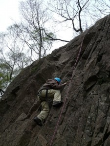 Rock climbing taster session in the peak district