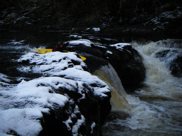 Winter white water kayaking course