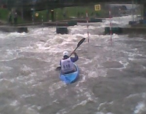 White water kayaking training course