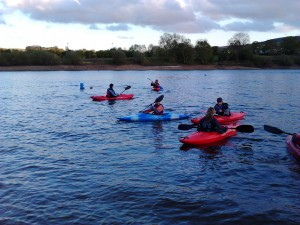 Beginners kayaking lesson