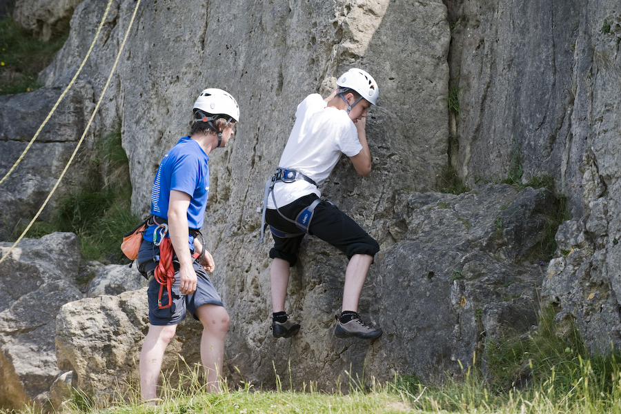 GCSE rock climbing coaching