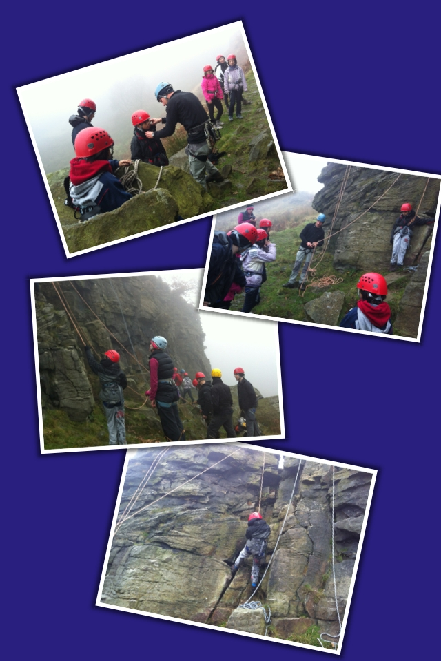 Rock Climbing in Grit season in the Peak District