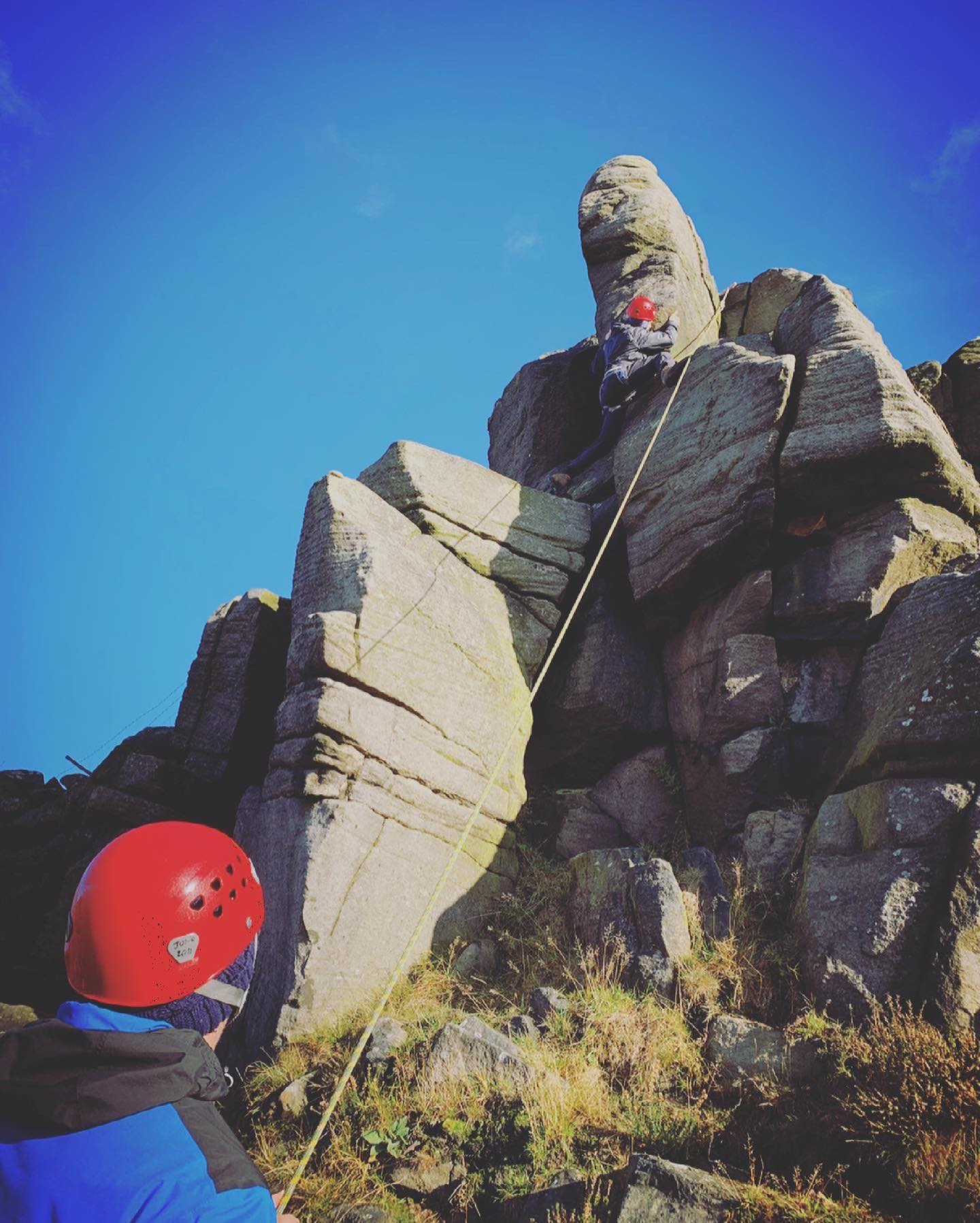 Spaces rock climbing and abseiling in the Peak District on: 18th April  1st May 8th May More info and booking at www.wilderness-development.com, link in our bio 🧗♀️⛰🧗♀️ . . . #wildernessdevelopment #smallbusiness #rockclimbing #climbing #scrambling #abseiling #trysomethingnew #peakdistrict #peakdistrictnationalpark #peakdistrictclimbing #mountainsfellsandhikes #roamtheuk #outdoorpursuits #outdooradventures #outdooractivities #nationalparksuk #booknow