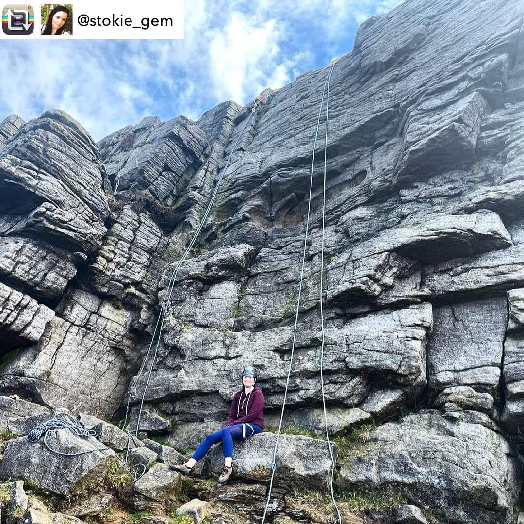 Repost from this weekends happy customer @stokie_gem - Giving rock climbing a go today at Windgather Rocks...tough but great fun! Thanks to @wilderness_development   Spaces rock climbing and abseiling in the Peak District on:  1st May 8th May More info and booking at www.wilderness-development.com, link in our bio 🧗‍♀️⛰🧗‍♀️ . . . #wildernessdevelopment #smallbusiness #rockclimbing #climbing #scrambling #abseiling #trysomethingnew #peakdistrict #peakdistrictnationalpark #peakdistrictclimbing #mountainsfellsandhikes #roamtheuk #outdoorpursuits #outdooradventures #outdooractivities #nationalparksuk #booknow