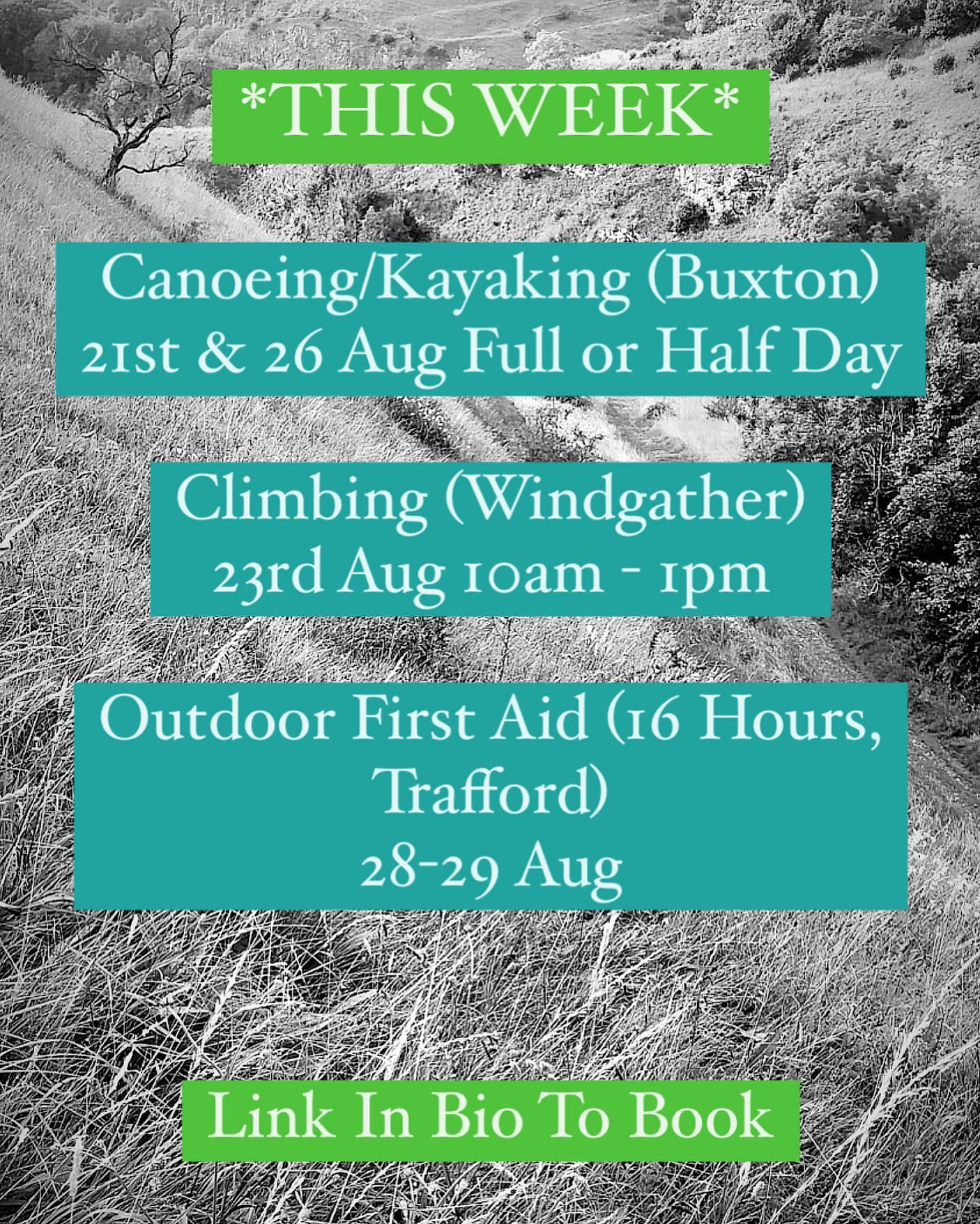 Join our friendly, qualified instructors for these sessions, just for fun or to learn some new skills, we hope to see you here!  More info and booking at www.wilderness-development.com, link in our bio 🧗♀️⛰🧗♀️ . . . #wildernessdevelopment #smallbusiness #rockclimbing #climbing #scrambling #canoeing #kayaking #outdoorfirstaid #abseiling #trysomethingnew #peakdistrict #peakdistrictnationalpark #peakdistrictclimbing #mountainsfellsandhikes #roamtheuk #outdoorpursuits #outdooradventures #outdooractivities #nationalparksuk #booknow