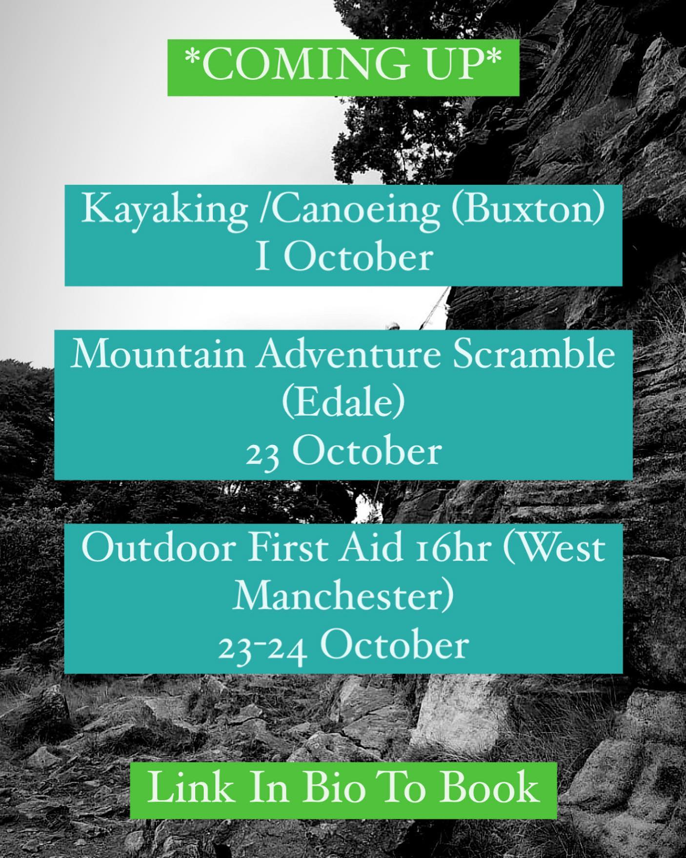 Join our friendly, qualified instructors for these sessions, just for fun or to learn some new skills, we hope to see you here!  More info and booking at www.wilderness-development.com, link in our bio 🧗♀️⛰🧗♀️ . . . #wildernessdevelopment #smallbusiness #rockclimbing #climbing #scrambling #canoeing #kayaking #abseiling #trysomethingnew #peakdistrict #peakdistrictnationalpark #peakdistrictclimbing #mountainsfellsandhikes #roamtheuk #outdoorpursuits #outdooradventures #outdooractivities #nationalparksuk #booknow